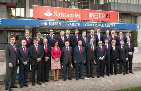 Miembros del equipo de alta dirección del Banco de Santander en el Investor Day. Fuente Cinco Días.