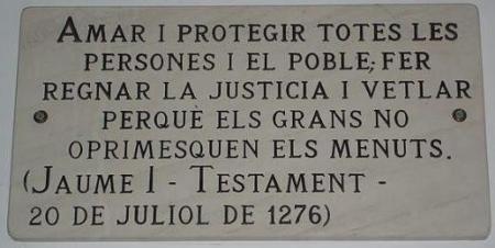 testament de jaume I 20 juliol 1276 may 13